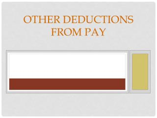 Other Deductions From Pay