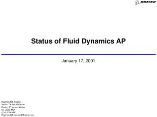 Status of Fluid Dynamics AP