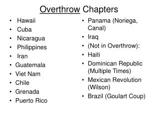 Overthrow Chapters