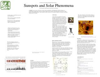 Sunspots and Solar Phenomena Jake Sarrantonio, Eddie Janicki, John Samson, Jon Germano