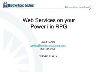 Web Services on your Power i in RPG