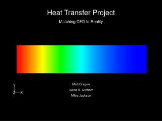 Heat Transfer Project Matching CFD to Reality           Matt Cragun Lucas B. Graham Miles Jackson