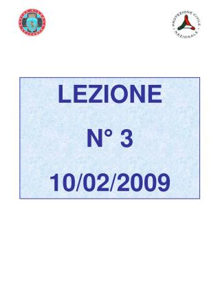 LEZIONE  N  3  10