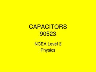 CAPACITORS 90523