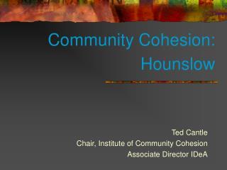 Community Cohesion: Hounslow