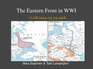 The Eastern Front in WWI