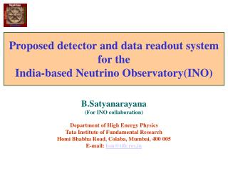 Proposed detector and data readout system for the India-based Neutrino ObservatoryINO
