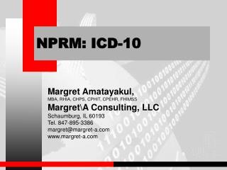 NPRM: ICD-10