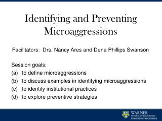 Identifying and Preventing Microaggressions