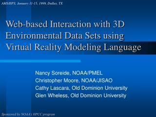 Web-based Interaction with 3D Environmental Data Sets using Virtual Reality Modeling Language