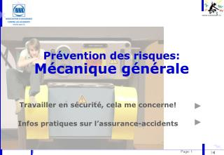 Pr vention des risques: M canique g n rale