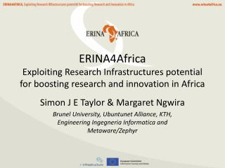 ERINA4Africa Exploiting Research Infrastructures potential for boosting research and innovation in Africa