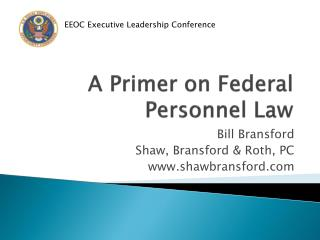 A Primer on Federal Personnel Law