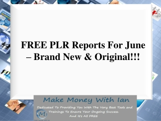 FREE PLR Reports