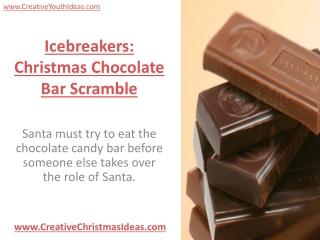 Icebreakers: Christmas Chocolate Bar Scramble