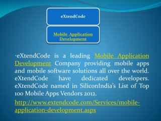 eXtendCode - Mobile Application Development