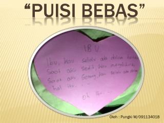 Puisi Bebas