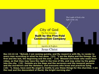 City of God The New Jerusalem