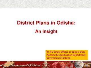 District Plans in Odisha: An Insight