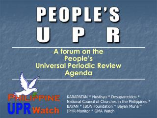 A forum on the  People s   Universal Periodic Review  Agenda