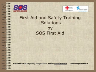 First Aid and Safety Training Solutions by SOS First Aid