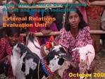 External Relations Evaluation Unit