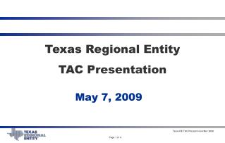 Texas Regional Entity TAC Presentation