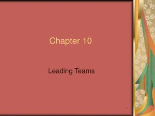 Leading Teams
