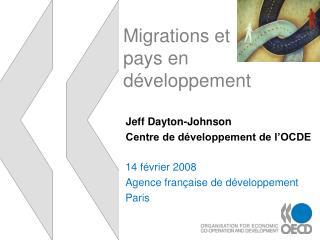 Migrations et pays en d veloppement