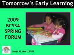 Tomorrow s Early Learning