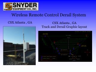 Wireless Remote Control Derail System