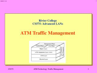 Rivier College CS575: Advanced LANs   ATM Traffic Management