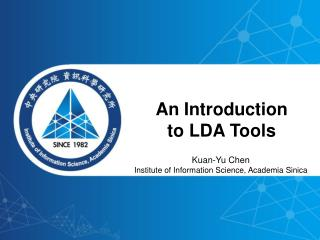 An Introduction  to LDA Tools