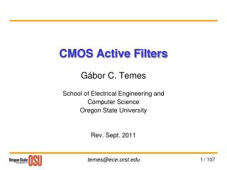 CMOS Active Filters