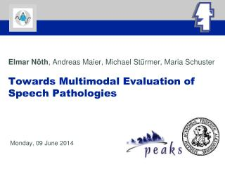 Elmar N th, Andreas Maier, Michael St rmer, Maria Schuster  Towards Multimodal Evaluation of Speech Pathologies