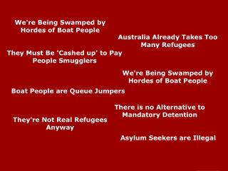 Asylum Seekers are Illegal