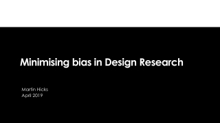 Design Research : Research for