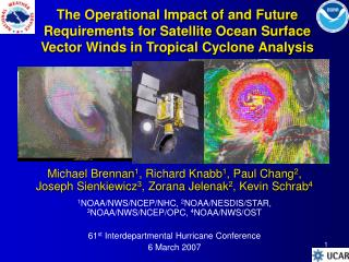The Operational Impact of and Future Requirements for Satellite Ocean Surface Vector Winds in Tropical Cyclone Analysis