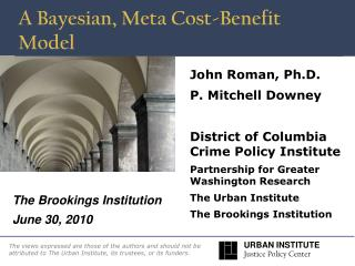 A Bayesian, Meta Cost-Benefit Model