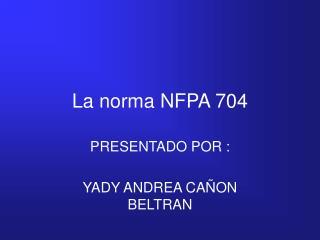 La norma NFPA 704