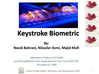 Keystroke Biometric