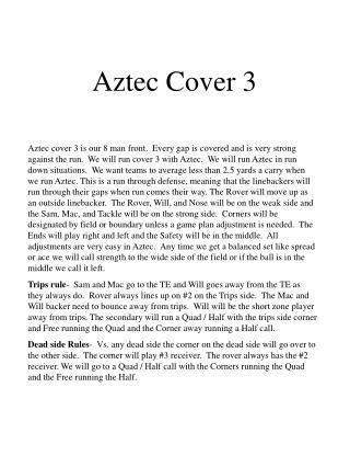 Aztec Cover 3