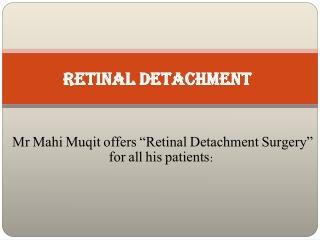 Case Presentation Retinal Detachment