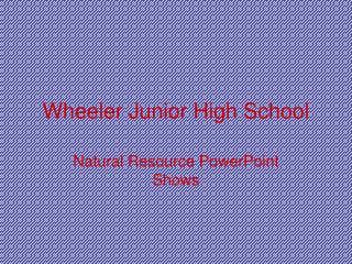 Wheeler Junior High School