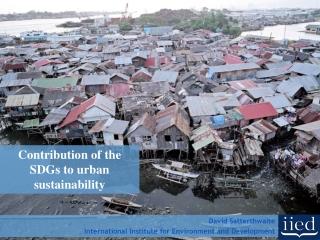 Healthy urbanisation through a governance lens