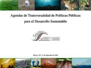 Agendas de Transversalidad de Pol ticas P blicas   para el Desarrollo Sustentable