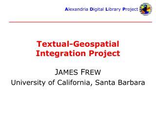 Textual-Geospatial Integration Project