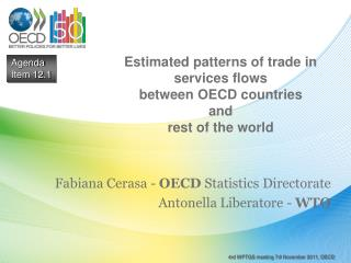 Estimated patterns of trade in services flows  between OECD countries  and  rest of the world