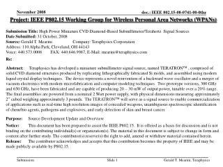 Project: IEEE P802.15 Working Group for Wireless Personal Area Networks WPANs  Submission Title: High Power Miniature CV