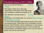 Elizabeth Smart 1913-1986